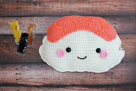 Salmon Nigiri Kawaii Cuddler® Crochet Pattern