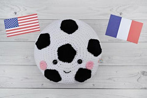 Soccer Ball Kawaii Cuddler® Crochet Pattern