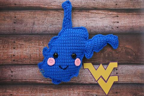 State of West Virginia Kawaii Cuddler® Crochet Pattern