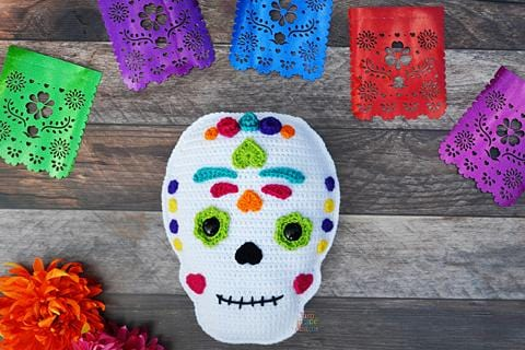 Sugar Skull Kawaii Cuddler® Crochet Pattern