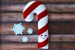 Candy Cane Kawaii Cuddler™ Crochet Pattern