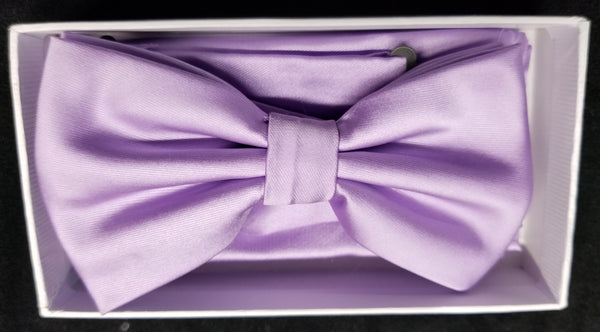 Brand Q Lavender Solid Bow Tie Set