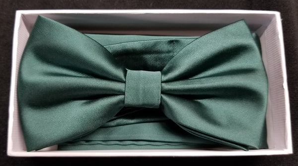 Brand Q Green Solid Bow Tie Set