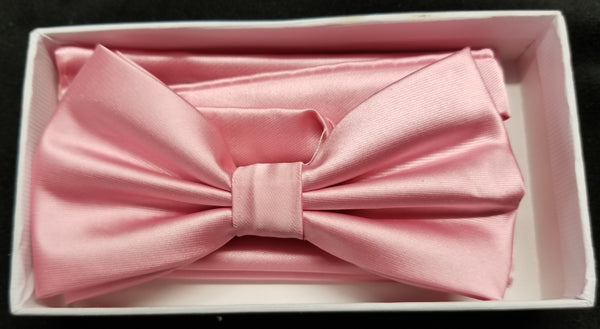 Brand Q Pink Solid Bow Tie Set