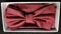 Brand Q  Burgundy Solid Bow Tie Set