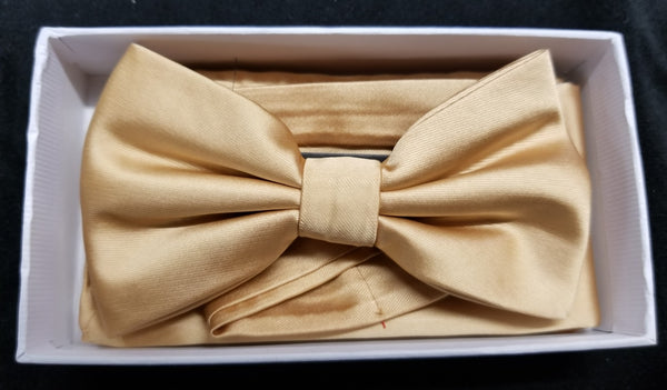 Brand Q Maize Solid Bow Tie Set