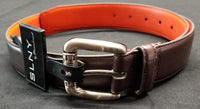 Steven Land Dark Brown Men's Genuine Leather Dress Casual Belts