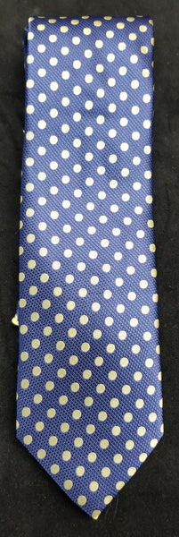 VERSE  BLUE/YELLOW MULTI COLOR POLKA DOT DESIGN MEN'S FASHION DRESS TIE