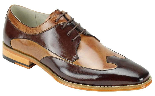 GIOVANNI DEAN CHOCOLATE BROWN/ TAN MEN'S DRESS SHOES