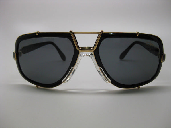 Cazal 656/3 Black/Gold Sunglasses
