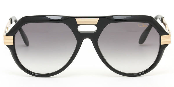 Cazal 657 Shiny Black/Gold Sunglasses