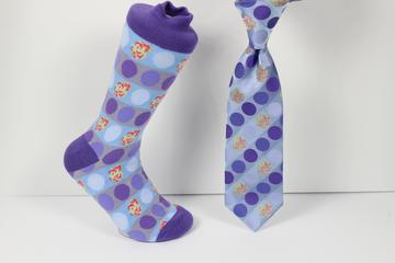 Verse 9 Delhi-3 Lavender/Light Blue/Grey Polka Dot Design Sock Combo