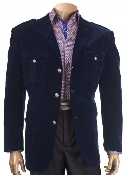 INSERCH LIMITED EDITION NAVY VELVET BLAZER