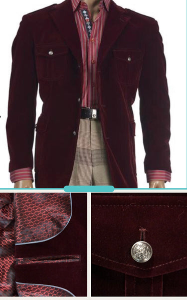 INSERCH LIMITED EDITION BURGUNDY VELVET BLAZER