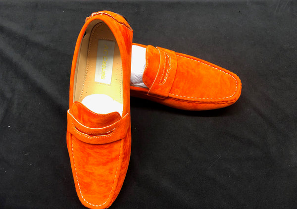 AC Casuals Men's Orange Fashion Slip On Loafers Shoes