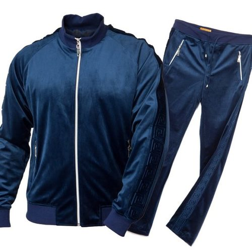 Prestige Original Navy Luxury Velour/Velvet Jogger Set