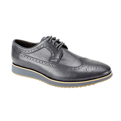 Steven Land Charcoal Men's Casual Dress Shoes