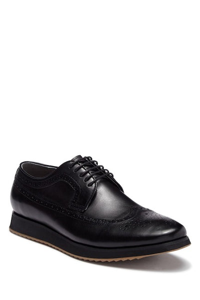 Steven Land Black Men's Casual Dress Shoes