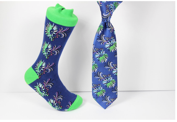 Verse 9 Dal Housie-2 Lime Green/Blue/Black/Pink/ Grey Pattern Design Sock Combo