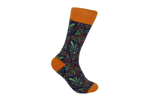 Verse 9 Madagascar Orange/Blue/Green/Grey Socks