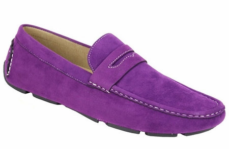 AC Casuals Men's Purple Fashion Slip On Loafers Shoes