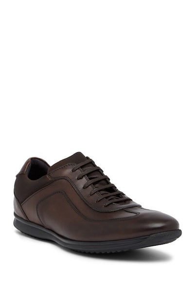 Bacco Bucci Brown Men's Cabral Leather Sneakers