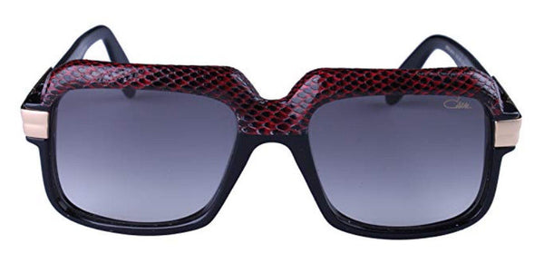 Cazal 607/3 Red/Black Half Snake Skin Color Sunglasses