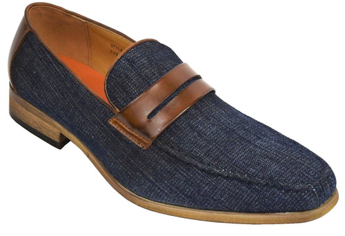 ANTONIO CERRELLI ELITE DENIM BLUE/TAN SHOES