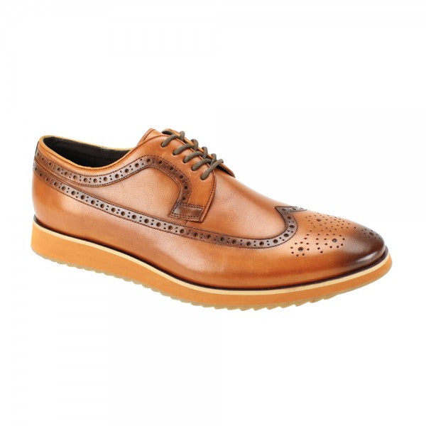 Steven Land Tan Men's Casual Dress Shoes