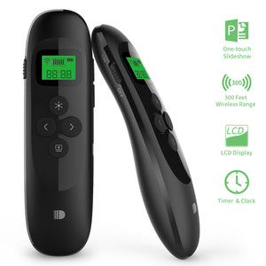 Doosl Rechargeable Presentation Remote with LCD Screen, 2.4GHz Wireless Presenter