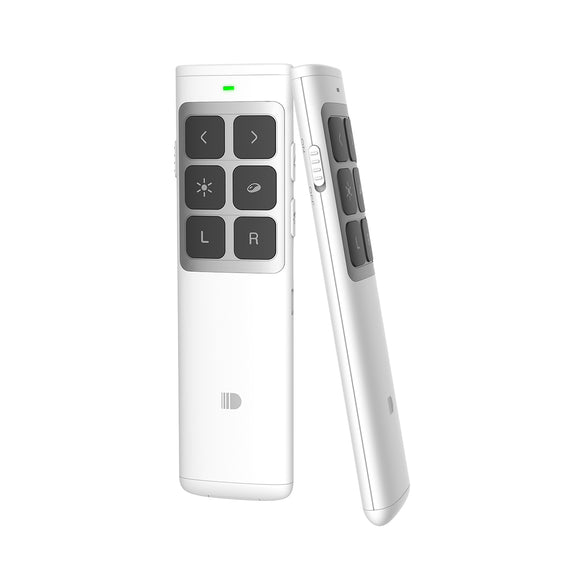 Doosl Multifunctional Presentation Remote, 2.4GHz Rechargeable PowerPoint  Clicker (White) (New Edition)