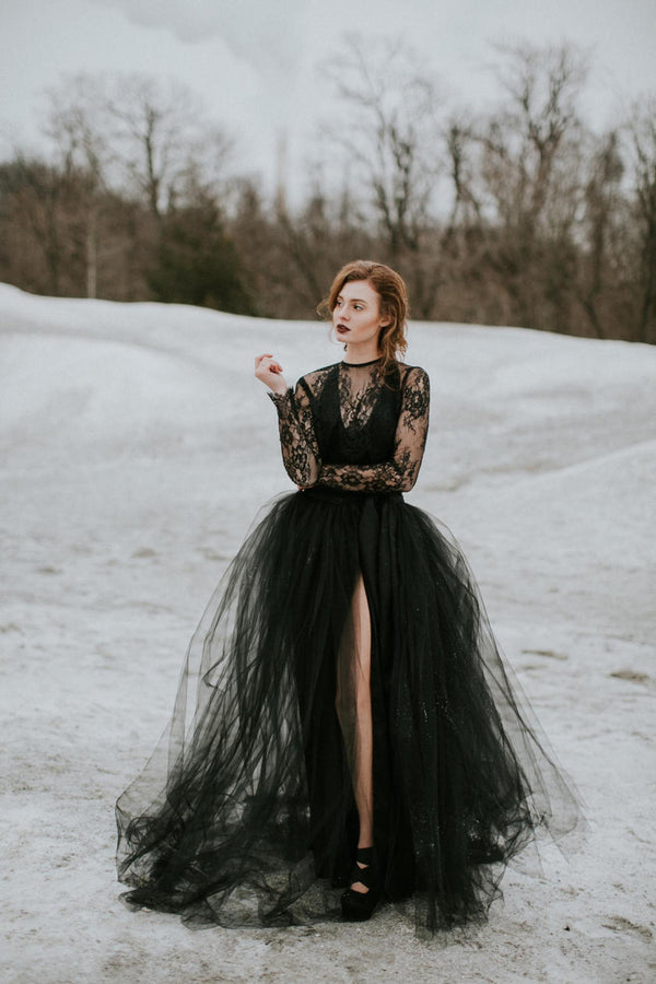 SAMPLE SALE: Goth Bride Set