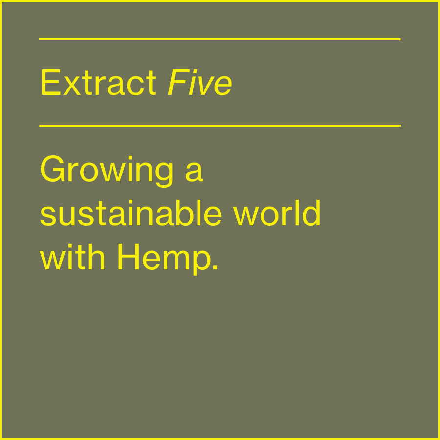 GROWING A SUSTAINABLE WORLD WITH HEMP