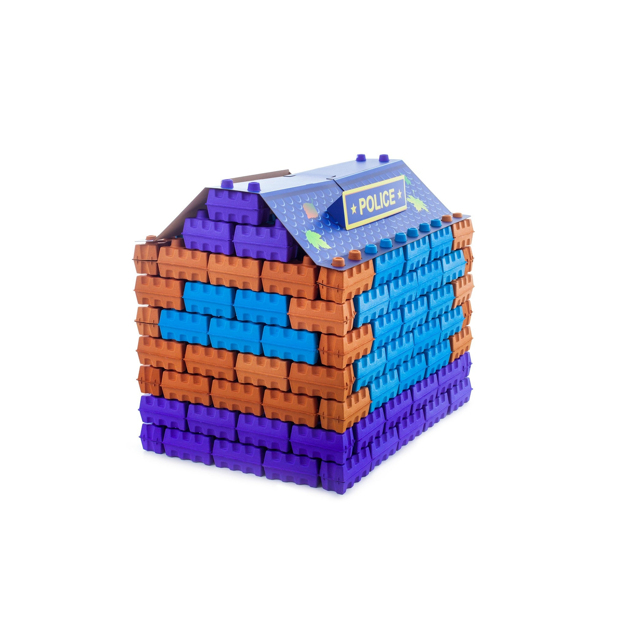 PAGL - 100% safe and eco-friendly cardboard buildings bricks for kids.