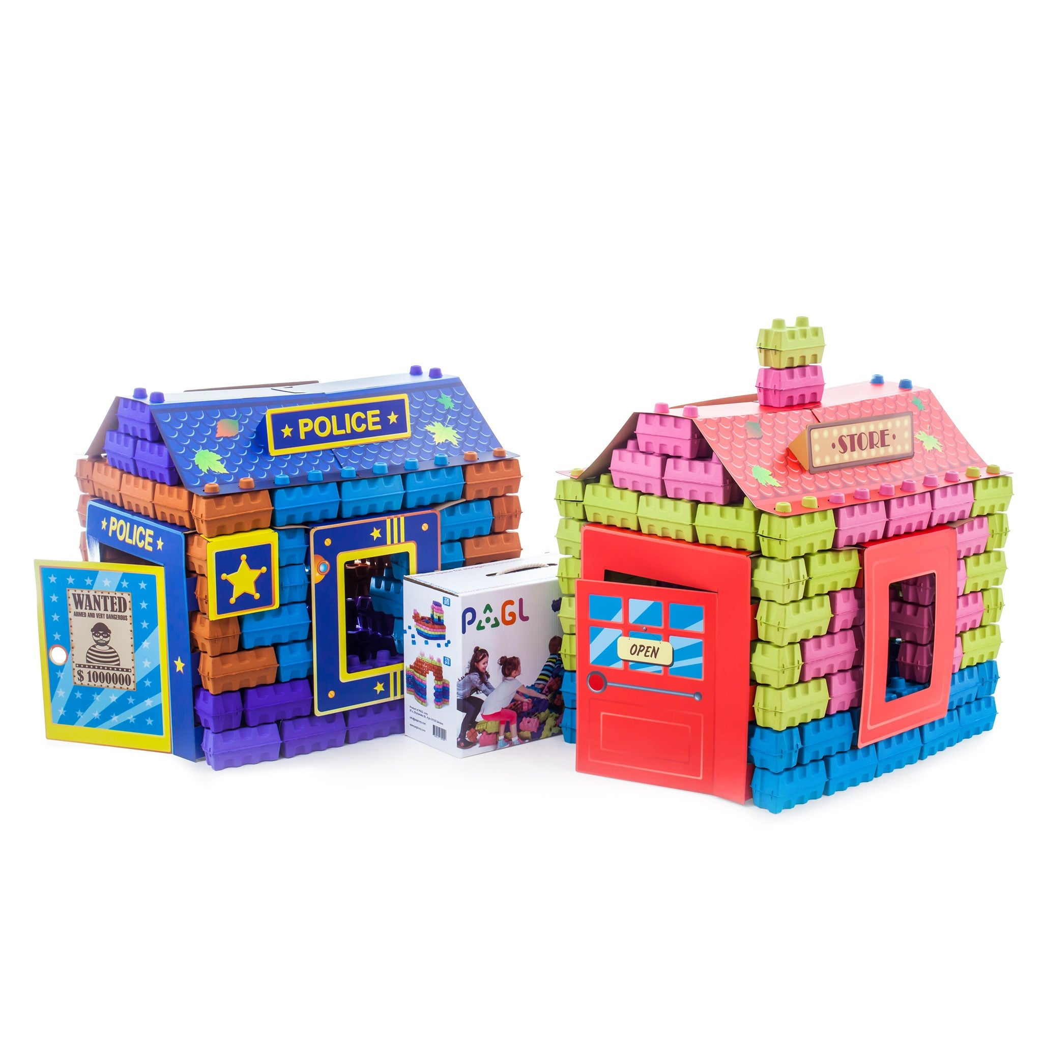 PAGL - is a construction set of large multicolored building blocks made of paper-pulp.