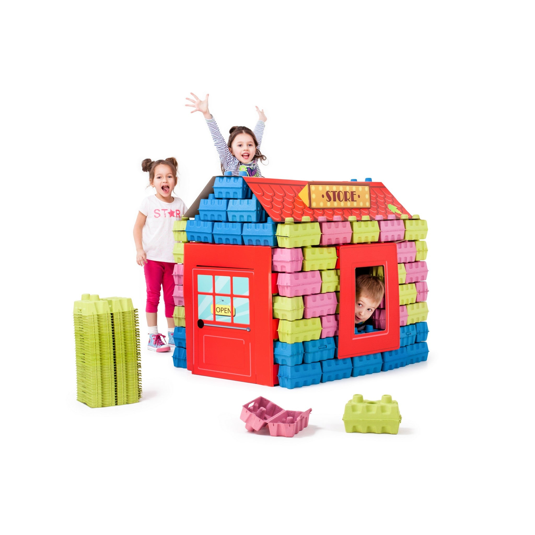 PAGL - 100% safe and eco-friendly cardboard bricks for kids.