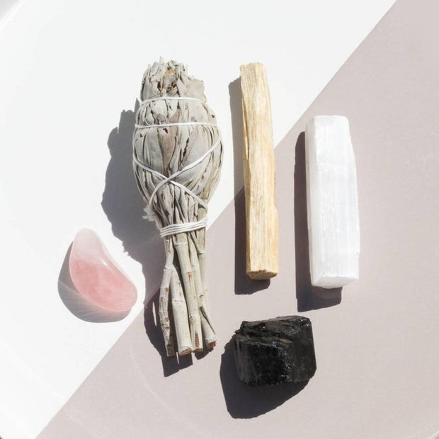 Cleansing Ritual Kit Rose Quartz and Selenite Crystals Jax Kelly Shop Jupiter Goods