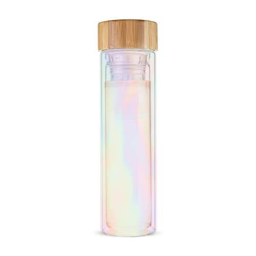 Cosmic Iridescent Magic Tea Infuser Glass Travel Mug Shop Jupiter Goods