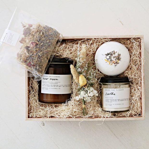 Calming Waters Lavender Small Batch Bath Gift Set Among the Flowers Shop Jupiter Goods