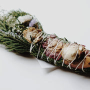 Cedar Rose Floral Smudge Clearing and Cleansing Wands Among the Flowers Shop Jupiter Goods