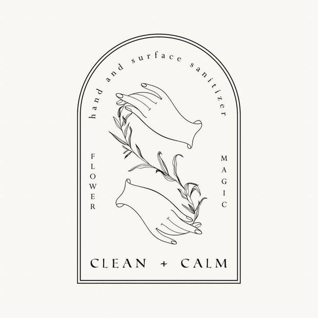 Clean and Calm Hand and Surface Flower Magic Sanitizer Olivine Atelier Shop Jupiter Goods