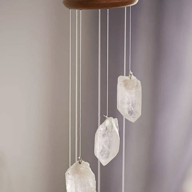 Clear Quartz Crystal Mobile and Wind Chime