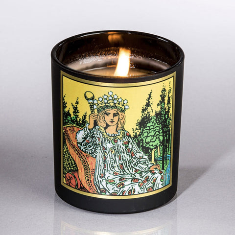 Empress Tarot Rose Candle by Magic Fairy Candles Shop Jupiter Goods