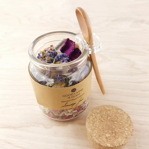 Floral Sage Smudge Jar with Frankincense