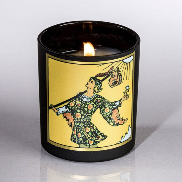 Fool Tarot Candle Basil Orange Rosemary Magic Fairy Candles Shop Jupiter Goods