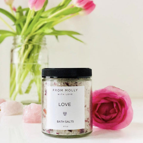 Love Bath Salts Rose Jasmine Sandalwood Self Care From Molly with Love Shop Jupiter Goods