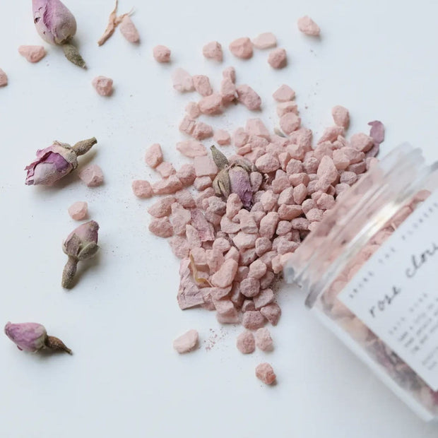 Rose Cloud Bath Soak Rose Petals Rose Clay Among the Flowers Shop Jupiter Goods