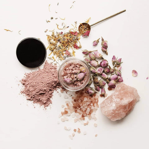 Rose Cloud Bath Soak Rose Petals Rose Clay Dreamy Relax Among the Flowers Shop Jupiter Goods