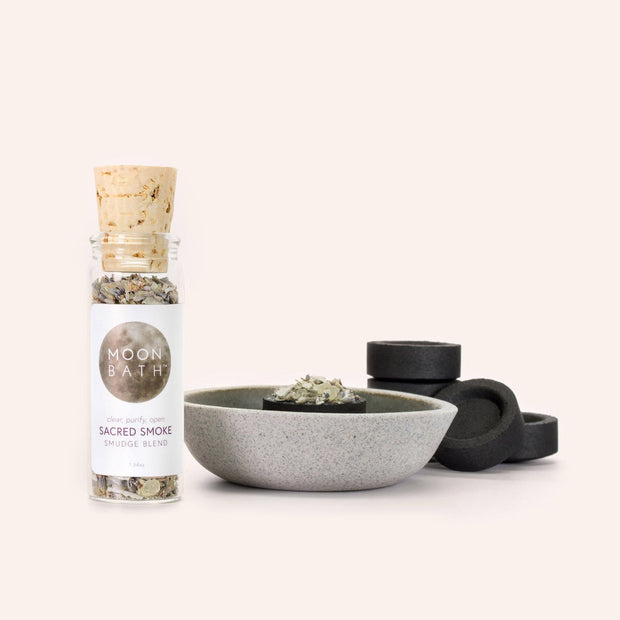 Sacred Smoke Burn Blend Frankincense Copal White Sage Lavender Smudge Clearing Ritual by Moon Bath Shop Jupiter Goods