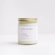 Love Potion Soy Minimalist Small Batch Candle Lavender Jasmine by Brooklyn Candle Studio Shop Jupiter Goods